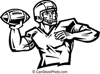 American Football Quarterback Throw