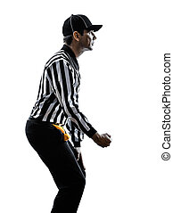american football referee gestures clipping silhouette