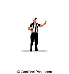 American football referee. Vector Illustration.