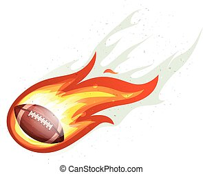 American Football Rocket Ball Burning