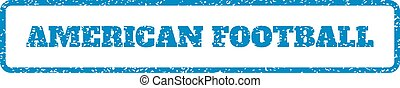 American Football Rubber Stamp