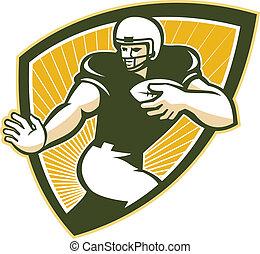 American Football Running Back Shield - Illustration of an...