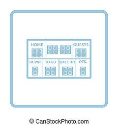 American football scoreboard icon