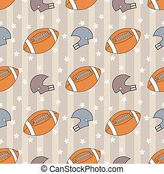 American football seamless pattern