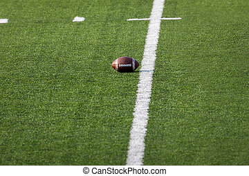 Football set on field  Ready for the game
