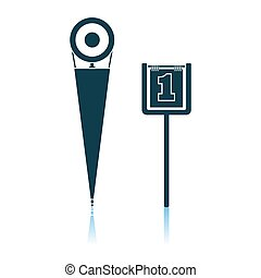 American Football Sideline Markers Icon