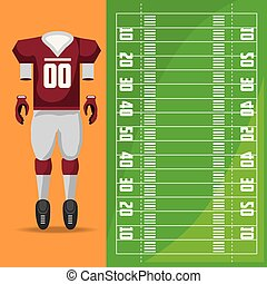 american football sport game to competition