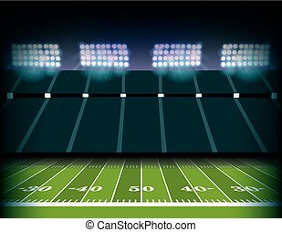 American Football Stadium and Field Background Illustration