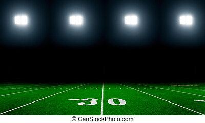 American football stadium with lights background