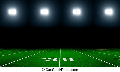 American football stadium with lights background