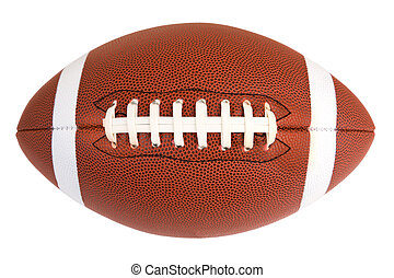 American Football - This is an isolated closeup of an...