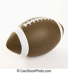 American football. - American football on white background.