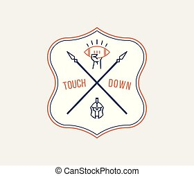 American football tackle and touchdown