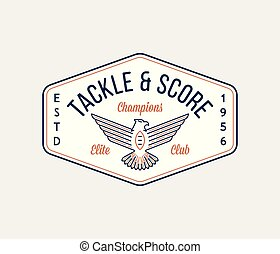 American football tackle and win