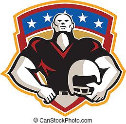 American Football Tackle Linebacker Helmet Shield -...