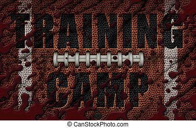 American Football Texture embossed with Training Camp - 3D Illustration