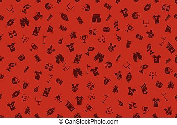 American Football Theme Duotone Icon Seamless Pattern