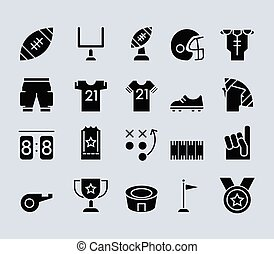 American Football Theme Pictogram Icon