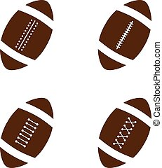 american football theme vector graphic art illustration
