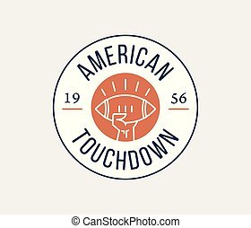 American football touchdown badge