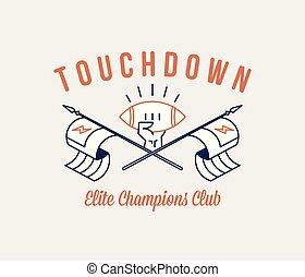 American football touchdown champions