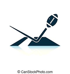 American football touchdown icon