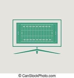 American football tv icon