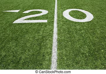 American Football Twenty Yard Line