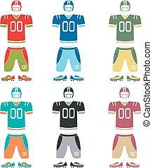 American football uniform, vector illustration