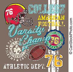 american Football varsity - football vector for shirt...