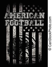 American football Varsity t shirt graphics vector graphics...