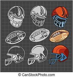 American football - vector elements for emblem