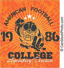 American Football - vector illustration for t-shirt