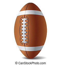 American football. Vector illustration.