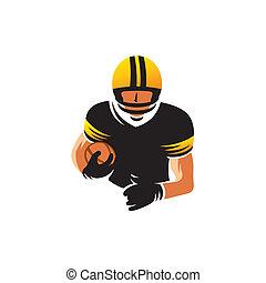 American football vector sign