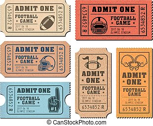 American Football vector tickets