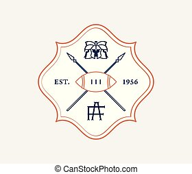 American football vintage style badge