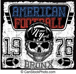 American football Vintage vector print for boy sportswear in custom