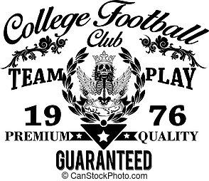 American football - Vintage vector