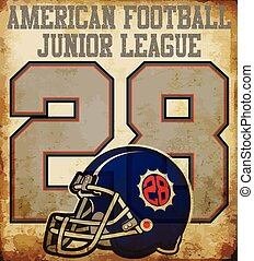 American football - Vintage vector print for boy sportswear in custom colors