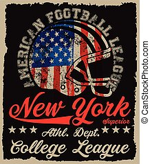 American football Vintage vector print for boy sportswear in...