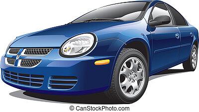 American four-door sedan - Detail vector image of American...