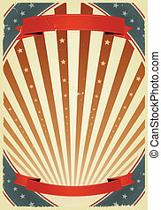 American Fourth Of July Banners - Illustration of a grunge...