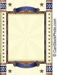 American frame - A grunge patriotic poster for your...