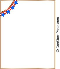 American frame with ribbon style USA flag
