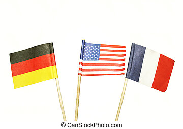 American French German Flags