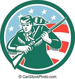 American Frontiersman Daniel Boone Circle Retro -...