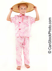 American Girl in Asian Clothing