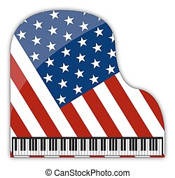 American Grand Piano - An American flag grand piano design...