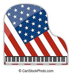 American Grand Piano - An American flag grand piano design...